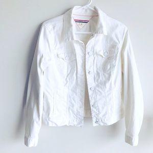 Tommy Hilfiger White Jeans M Size Jacket